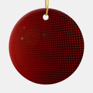 red halo adorno navideño redondo de cerámica