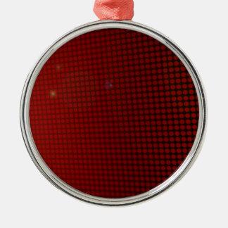 red halo adorno navideño redondo de metal