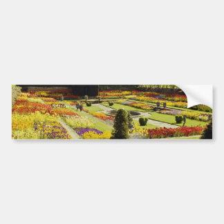 Red Hampton Court Palace Garden, England flowers Car Bumper Sticker