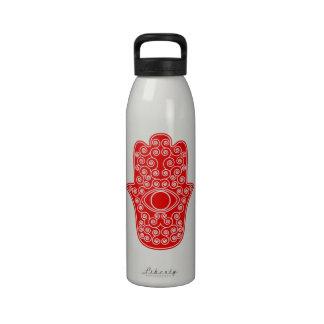 Red Hamsa-Hand of Miriam-Hand of Fatima.png Drinking Bottle