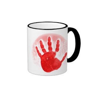 Red Hand Mug