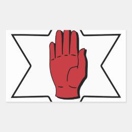 Red Hand of Ulster Rectangular Sticker