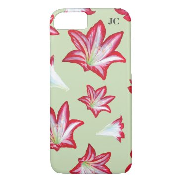 Red Hand-Painted Lilies iPhone 8/7 Case