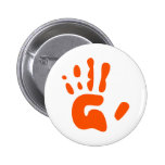 Red Hand Print Pin