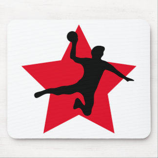 red handball star mouse pad