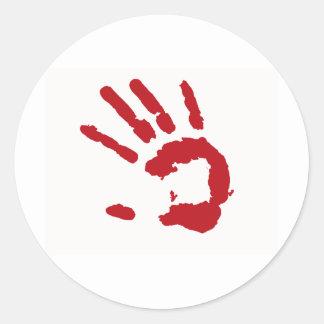 Red Handed Sticker
