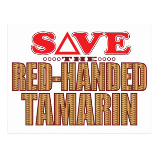 Red-Handed Tamarin Save Postcard