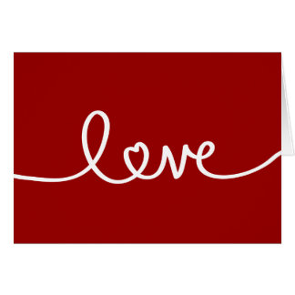 Red Handwritten Love Greeting Card