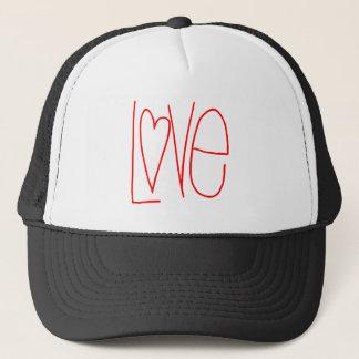 Red Handwritten Love Heart Trucker Hat