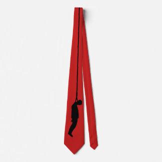 Red Hanging Man Tie