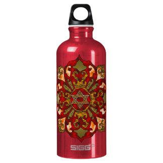 Red Hanukkah Aluminum Water Bottle