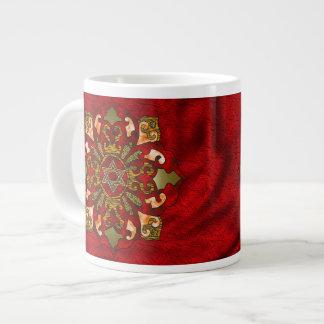 Red Hanukkah Giant Coffee Mug