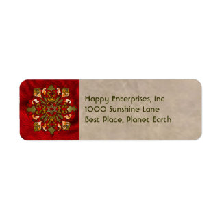 Red Hanukkah Label