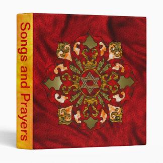Red Hanukkah Mandala 3 Ring Binder