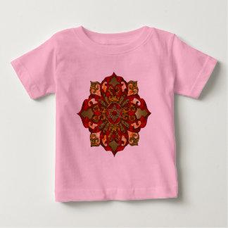 Red Hanukkah Mandala Baby T-Shirt
