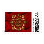 Red Hanukkah Mandala Stamps