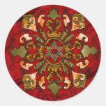 Red Hanukkah Mandala Sticker