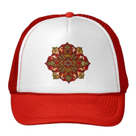 Red Hanukkah Mandala Trucker Hat