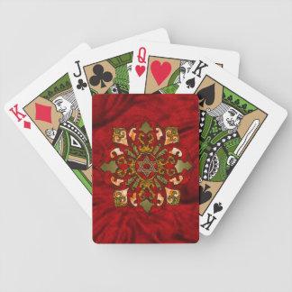 Red Hanukkah Playing Cards