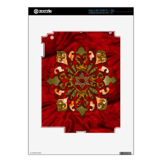 Red Hanukkah Decals For The iPad 2