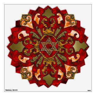 Red Hanukkah Wall Sticker