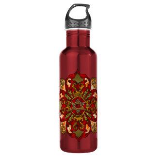 Red Hanukkah Water Bottle