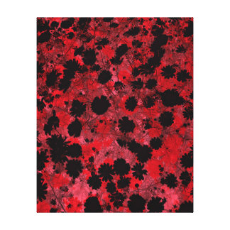 Red Happiness Abstract Modern Design Canvas Print