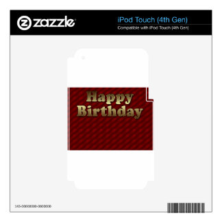 Red Happy-birthday #2 Decals For iPod Touch 4G