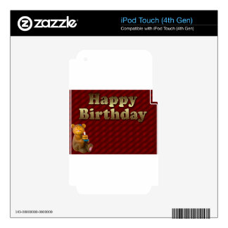 Red Happy-birthday iPod Touch 4G Decal
