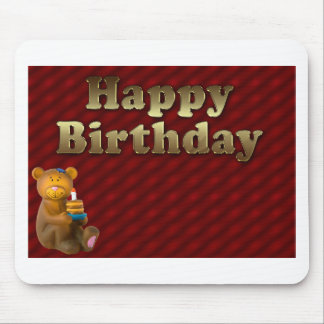 Red Happy-birthday Mouse Pad