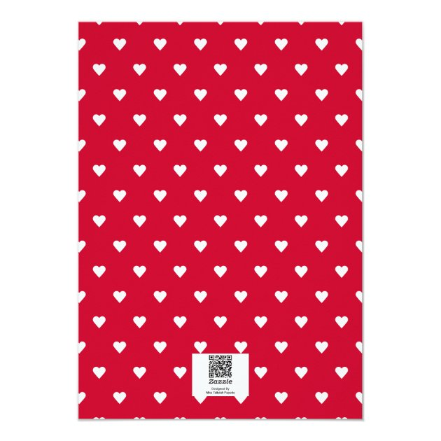 Red Happy Heart's Day | Photo Valentine's Day 5x7 Paper Invitation Card (back side)