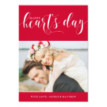 Red Happy Heart's Day | Photo Valentine's Day 5x7 Paper Invitation Card