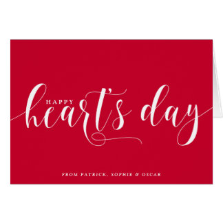 Red Happy Heart's Day Script | Valentine's Day Card