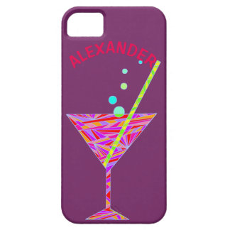 Red Happy Hour Cocktail Glass Martini Colorful iPhone SE/5/5s Case