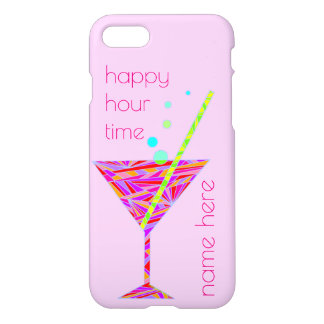 Red Happy Hour Cocktail iphone7 Add Your Name iPhone 8/7 Case