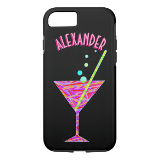 Red Happy Hour ifone7 Cocktail Glass Martini iPhone 8/7 Case
