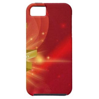 Red Happy New Year 2014 Background iPhone 5 Covers