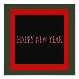 red happy new year card