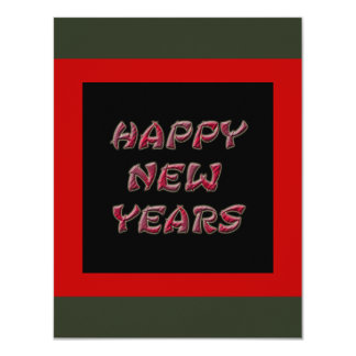 red happy new years card