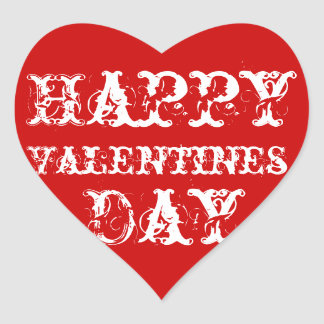 red happy valentines day stickers - Valentines Day Stickers