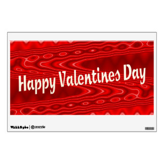 red Happy Valentines Day Wall Decal