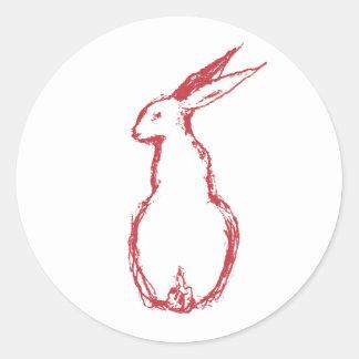 Red Hare Classic Round Sticker