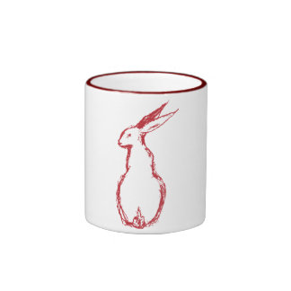Red Hare Ringer Coffee Mug