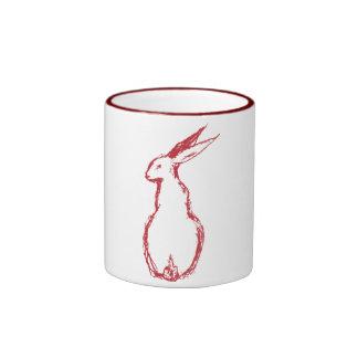 Red Hare Ringer Mug
