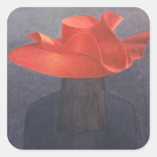 Red Hat 2004 Pegatina Cuadrada