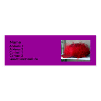 Red Hat Double-Sided Mini Business Cards (Pack Of 20)