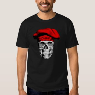 Red Hat Chef Skull Tee Shirts