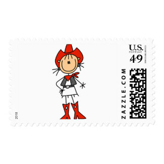 Red Hat Cowgirl Tshirts and Gifts Postage