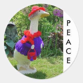 Red Hat Goose Products Round Sticker