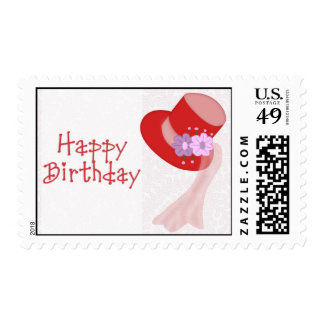 Red Hat Happy Birthday Postage